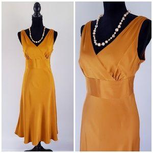 J. Crew Sophia 100% Silk Tricotine V-Neck Dress